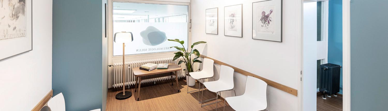 Wartezimmer Praxis Lungenfacharzt Solln